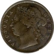 ¼ Cent - Victoria – obverse