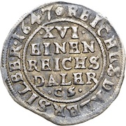 1 Düttchen, 1/16 Thaler (Swedish Occupation) – reverse