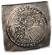 80 Kreuzer - Georg of Brandenburg (Klippe; Siege currency) – obverse