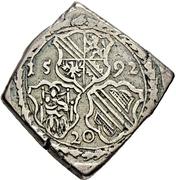 20 Kreuzer - Georg von Brandenburg (Klippe; Siege currency) – obverse