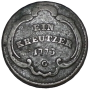 1 Kreutzer - Ludwig Constantin von Rohan-Guéménée – reverse