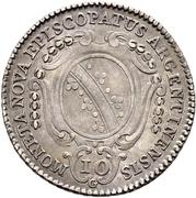 10 Kreuzer - Ludwig Constantin von Rohan-Guéménée – reverse