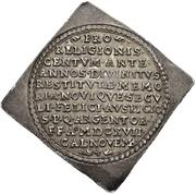 ½ Thaler (100 years of Reformation; Klippe) – reverse