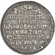 1 Ducat (Silver pattern strike; Peace of Nijmegen) – reverse