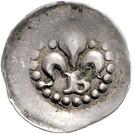 1 Pfennig - Bernhard I. (Lilienpfennig) – obverse