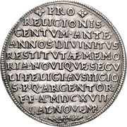 1 Thaler (100 years of Reformation) – reverse