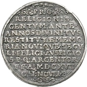 3 Thaler (100 years of Reformation) – reverse