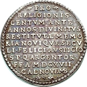 ½ Thaler (100 years of Reformation) – reverse