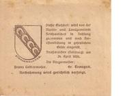 50 Heller (Strasswalchen) – reverse