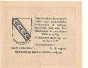 20 Heller (Strasswalchen) – reverse