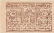 50 Heller (Strengberg) – reverse