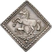 ½ Dukatenklippe (Silver pattern strike) – reverse