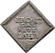 ½ Dukatenklippe (Silver pattern strike; New year) – reverse