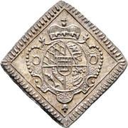 ¼ Dukatenklippe (Silver pattern strike) – reverse