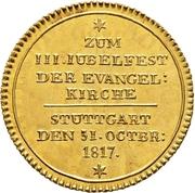 1 Ducat - Reformation Jubilee – reverse