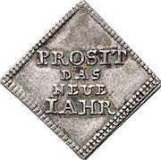 ½ Dukatenklippe (Silver pattern strike; Neue Jahr) – reverse