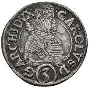 3 Kreuzer - Charles II Francois d'Autriche – obverse
