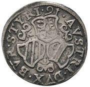 3 Kreuzer - Charles II Francois d'Autriche -  reverse
