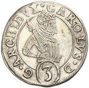 3 Kreuzer - Karl II Franz Herzherzog von Innerösterreich – obverse