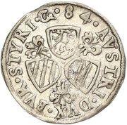 3 Kreuzer - Karl II Franz Herzherzog von Innerösterreich – reverse