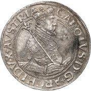 1 Thaler - Karl II Franz von Innerösterreich (Graz) -  obverse