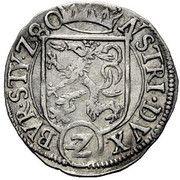 2 Kreuzer - Karl II Franz Herzherzog von Innerösterreich (Graz) – reverse