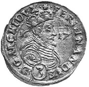 3 Kreuzer - Ferdinand II Archduke (Graz) – obverse