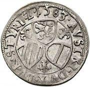 3 Kreuzer - Karl II Franz Herzherzog von Innerösterreich (Graz) -  reverse