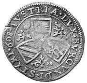 3 Kreuzer - Ferdinand II Archduke (Graz) -  reverse