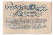 10 Heller (Styria) -  reverse