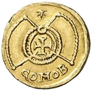 Tremissis (in the name of Valentinian III) – reverse