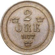 2 Öre - Oscar II (small letters) – reverse