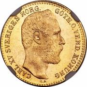 1 Carolin / 10 Francs - Carl XV – obverse