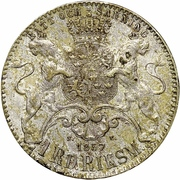1 Riksdaler Riksmynt - Oscar I (short goatee) – reverse