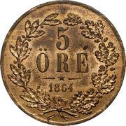 5 Öre - Carl XV – reverse