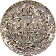 10 Öre - Carl XV – reverse