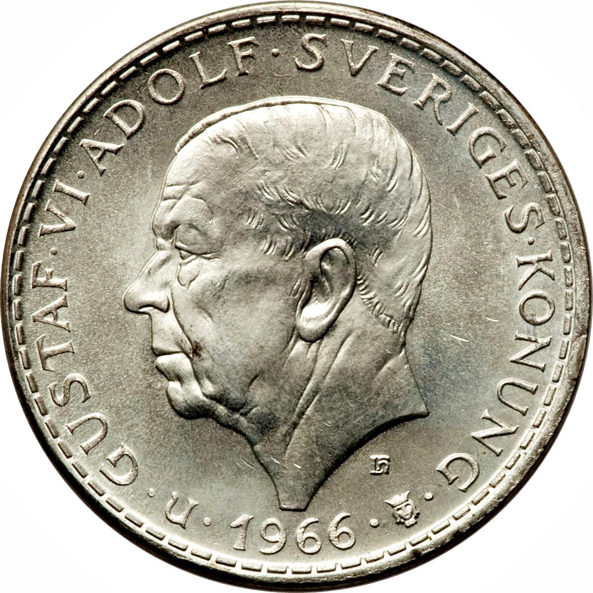 5 Kronor Gustaf Vi Adolf Consutional Reform