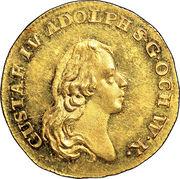 1 Dukat - Gustav IV Adolf (2nd portrait) – obverse