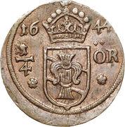 ¼ Öre - Kristina (Avesta mint) -  reverse