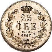 25 Öre - Carl XV – reverse
