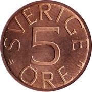 5 Öre - Carl XVI Gustaf -  reverse