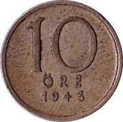 10 Öre - Gustaf V -  reverse