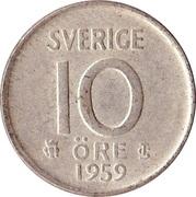 10 Öre - Gustaf VI Adolf – reverse