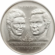 50 Kronor - Carl XVI Gustaf (Royal Wedding) -  obverse