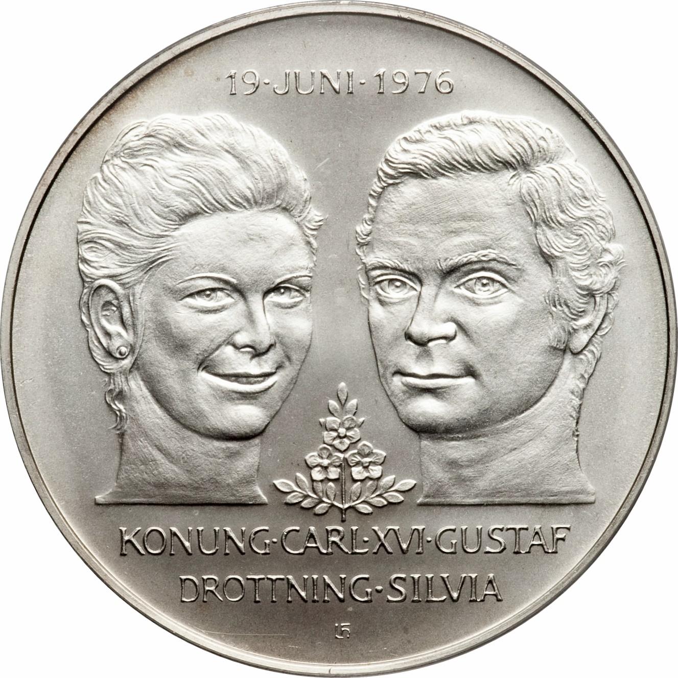 50 Kronor Carl Xvi Gustaf Royal Wedding Sweden Numista