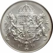 50 Kronor - Carl XVI Gustaf (Royal Wedding) -  reverse
