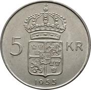 5 Kronor - Gustaf VI Adolf – reverse