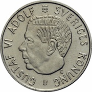 2 Kronor - Gustaf VI Adolf -  obverse