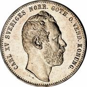 1 Riksdaler Riksmynt - Carl XV – obverse