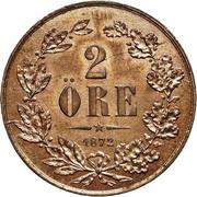 2 Öre - Carl XV – reverse